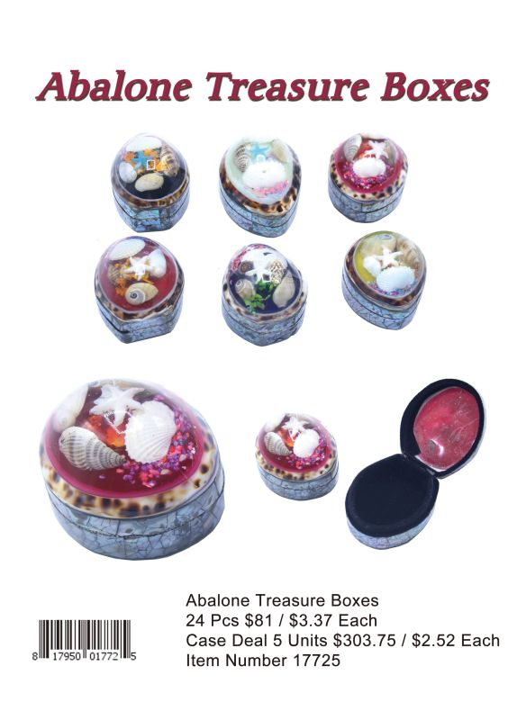 Abalone Treasure Boxes - 24 Pieces Unit