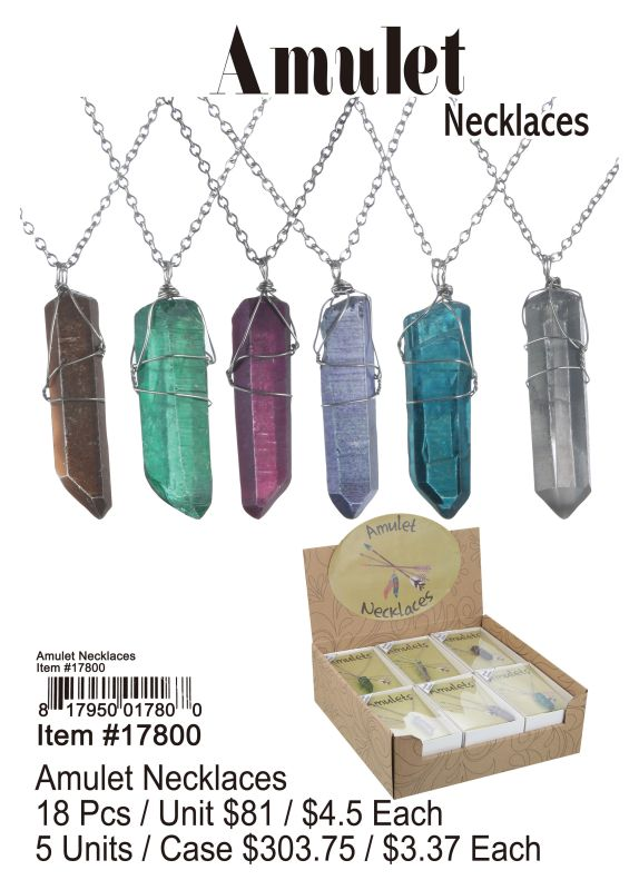 Amulet Necklaces - 18 Pieces Unit