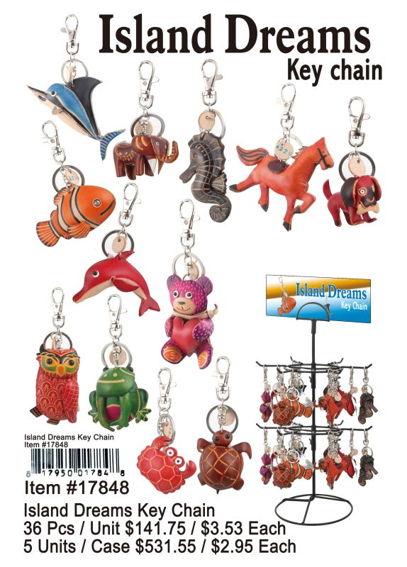 Island Dreams Keychain - 36 Pieces Unit