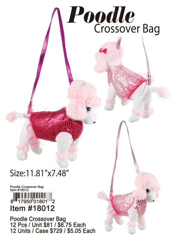 Poodle Crossover Bag - 12 Pieces Unit
