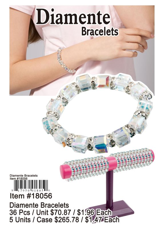 Diamente Bracelets - 36 Pieces Unit