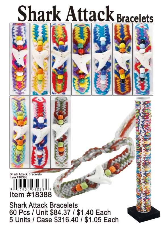 Shark Attack Bracelets - 60 Pieces Unit