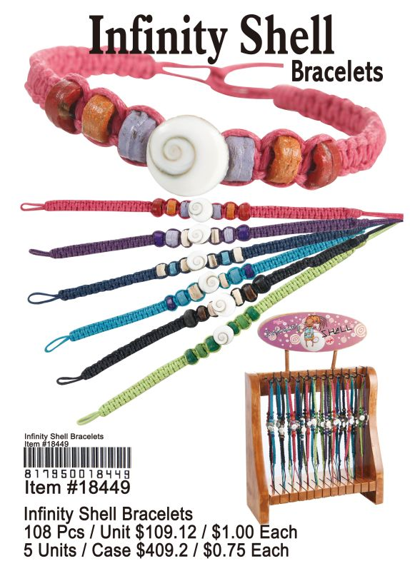Infinity Shell Bracelets - 108 Pieces Unit