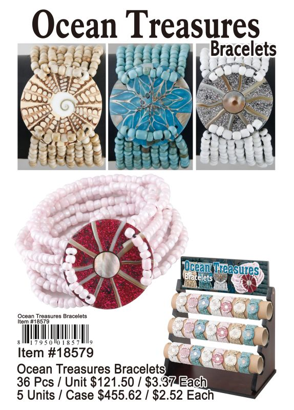 Ocean Treasures Bracelets - 36 Pieces Unit