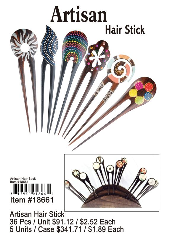 Artisan Hair Stick - 36 Pieces Unit