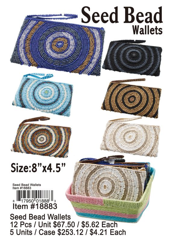Seed Bead Wallets - 12 Pieces Unit