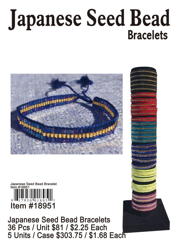 Japanese Seed Bead Bracelets - 36 Pieces Unit