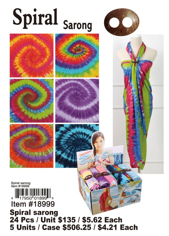Spiral Sarong - 24 Pieces Unit