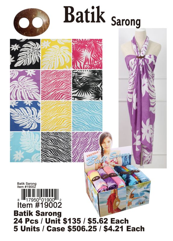 Batik Sarong - 24 Pieces Unit