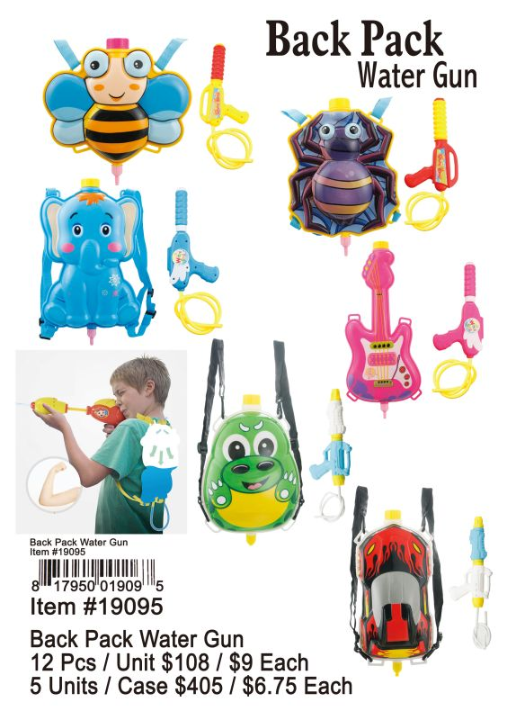 Back Pack Water Gun - 12 Pieces Unit