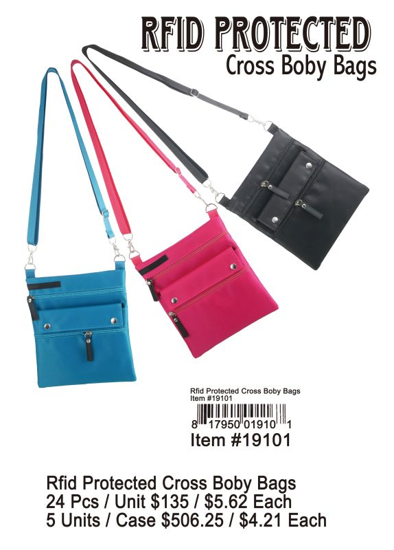 Frid Protected Cross Body Bags - 24 Pieces Unit