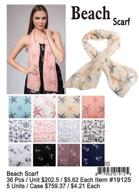Beach Scarf - 36 Pieces Unit