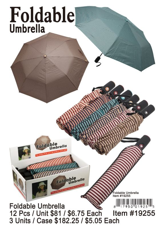 Foldable Umbrella - 12 Pieces Unit