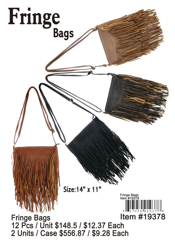 Fringe Bags - 12 Pieces Unit