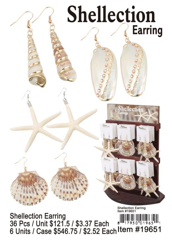 Shellection Earring - 36 Pieces Unit