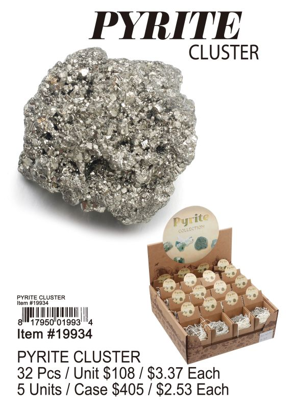 Pyrite Cluster - 32 Pieces Unit
