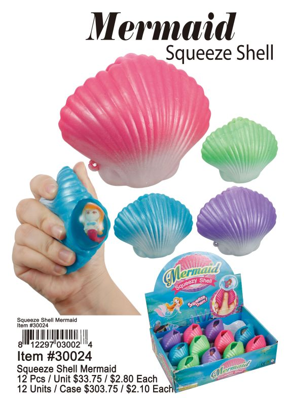 Mermaid Squeeze Shell