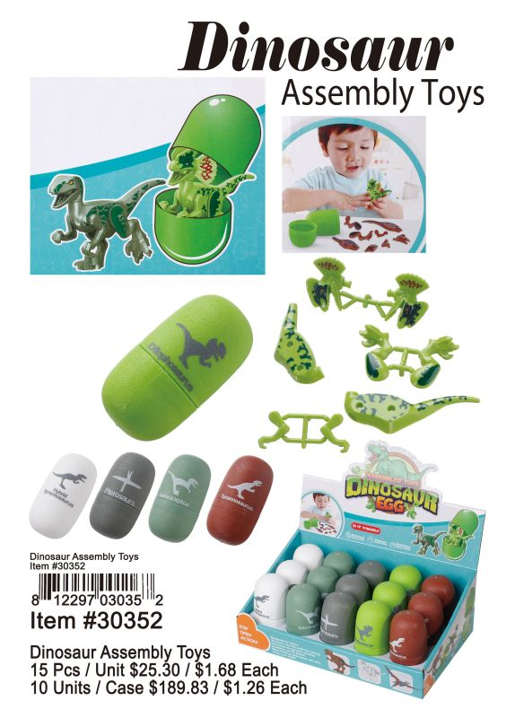 Dinosaur Assembly Toys - 15 Pieces Unit