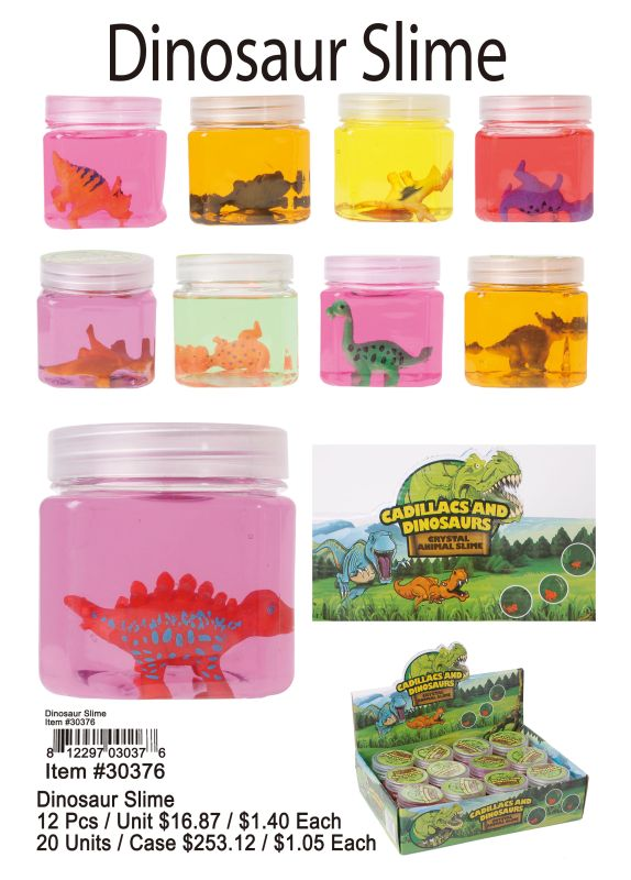 Dinosaur Slime - 12 Pieces Unit