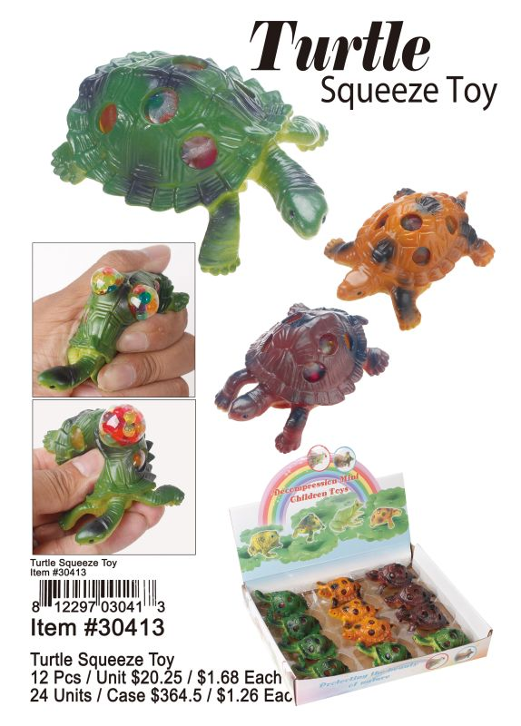 Turtle Squeeze Toy - 12 Pieces Unit