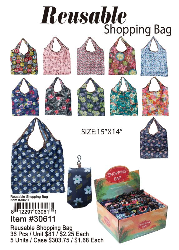 Reusable Shopping Bag - 36 Pieces Unit