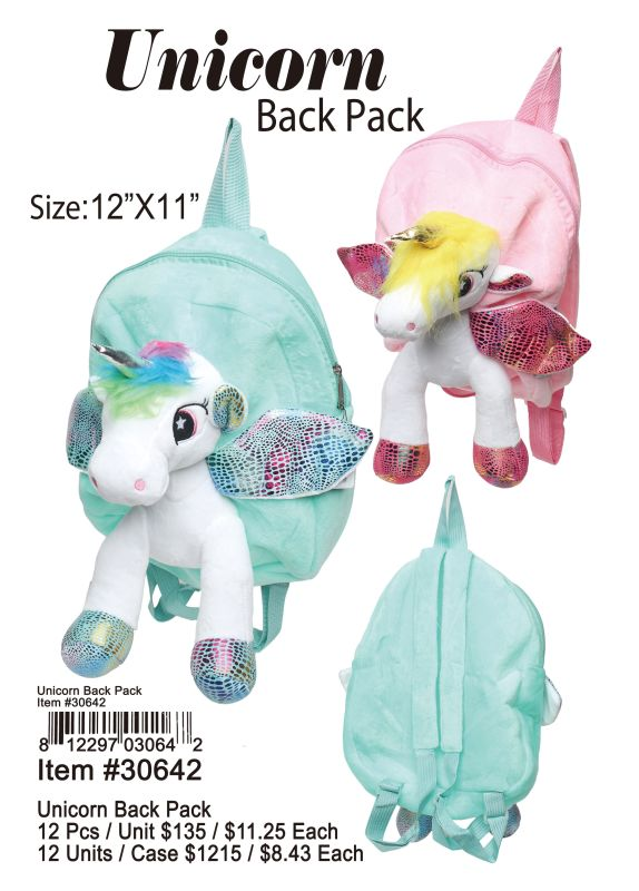 Unicorn Back Pack - 12 Pieces Unit