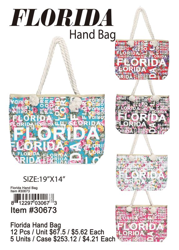 Florida Hand Bag - 12 Pieces Unit