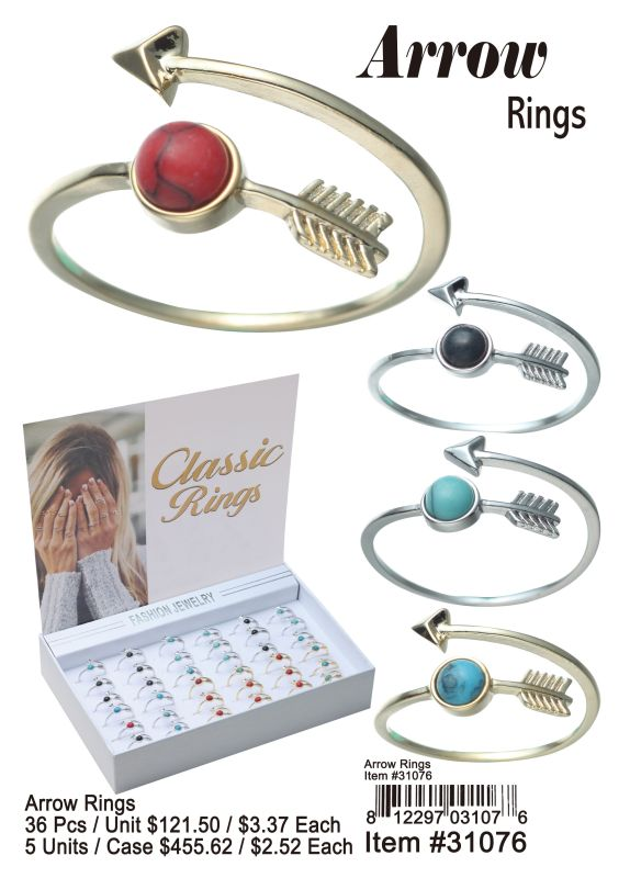 Arrow Rings - 36 Pieces Unit