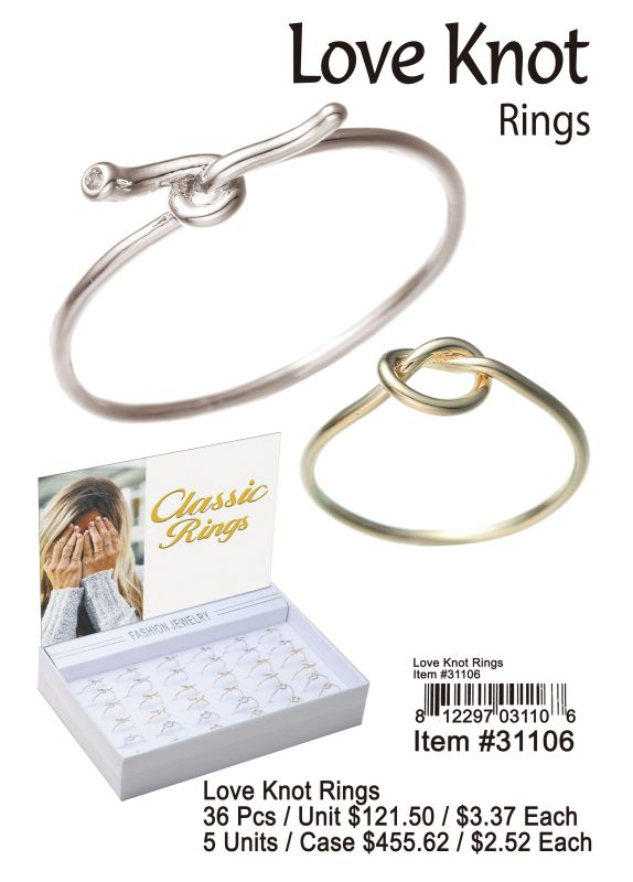 Love Knot Rings Wholesale