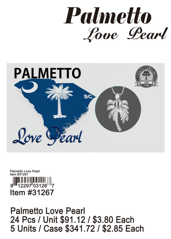 Palmetto Love Pearl - 24 Pieces Unit