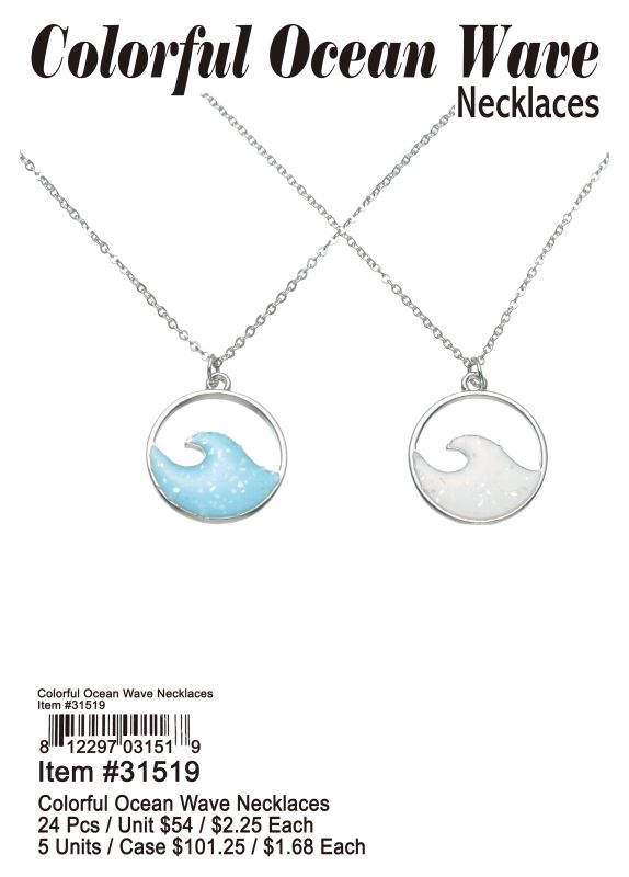 Colorful Ocean Wave Necklaces Wholesale
