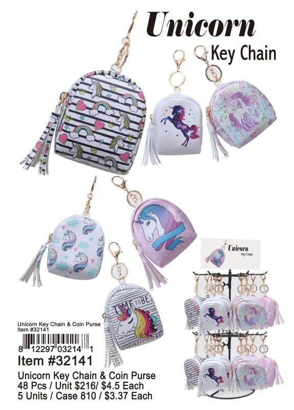 Unicorn Key Chain - 48 Pieces Unit