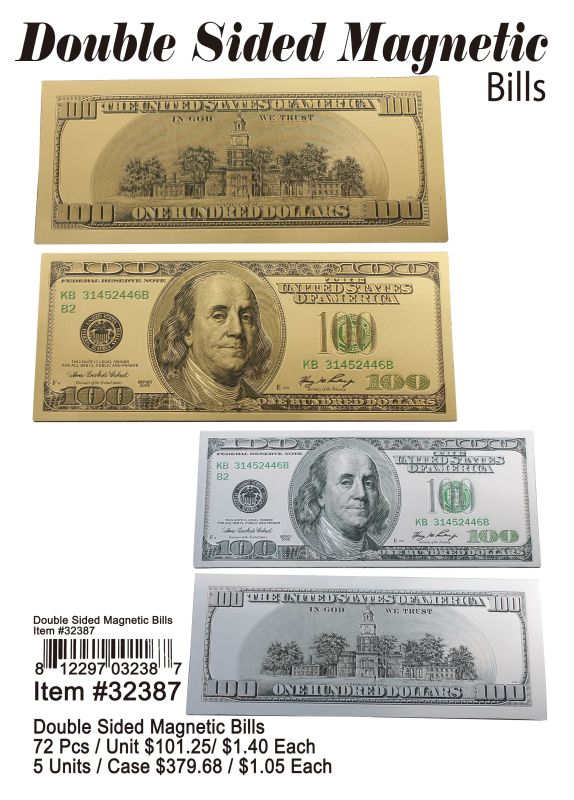 Double Sided Magnetic Bills - 72 Pieces Unit