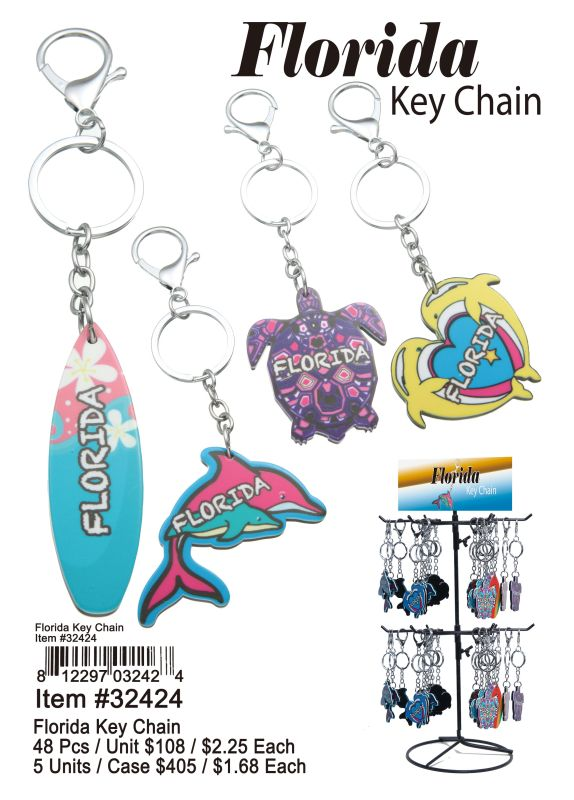 Florida Key Chain - 48 Pieces Unit