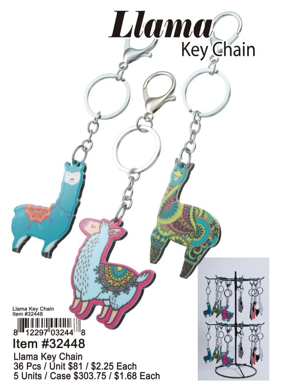 Llama Key Chain - 36 Pieces Unit
