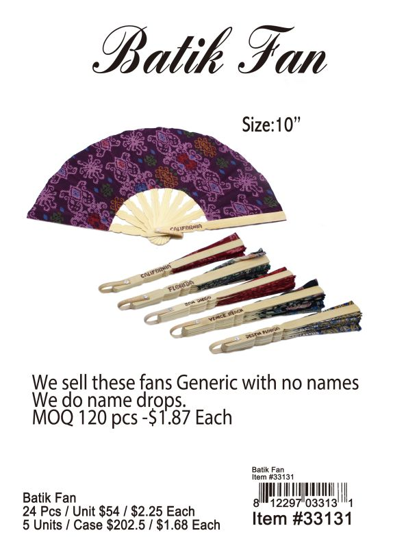 Batik Fan Wholesale