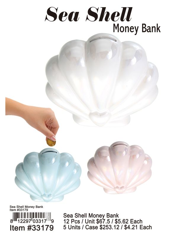 Sea Shell Money Bank - 12 Pieces Unit