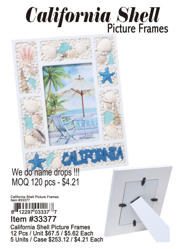California Shell Picture Frames Wholesale