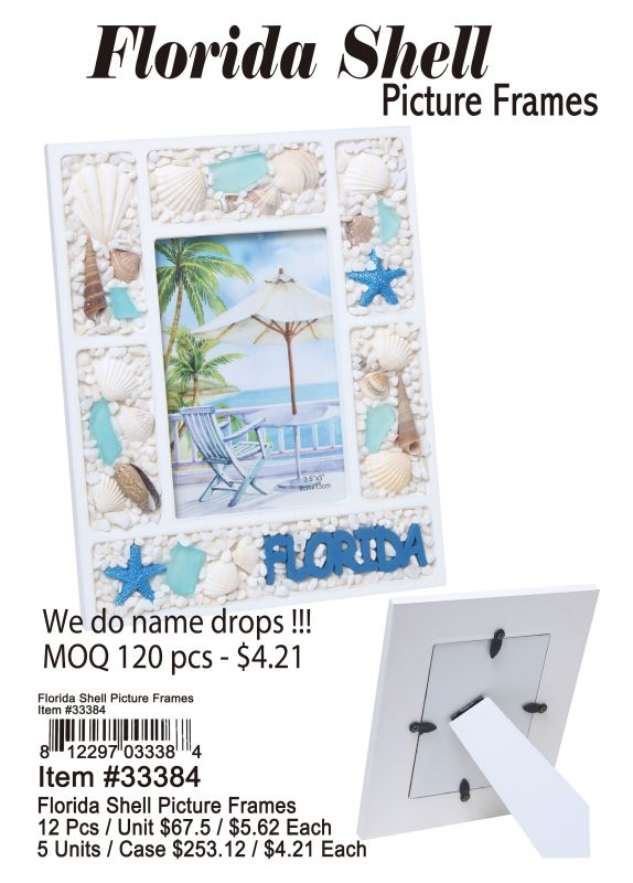 Florida Shell Picture Frames Wholesale