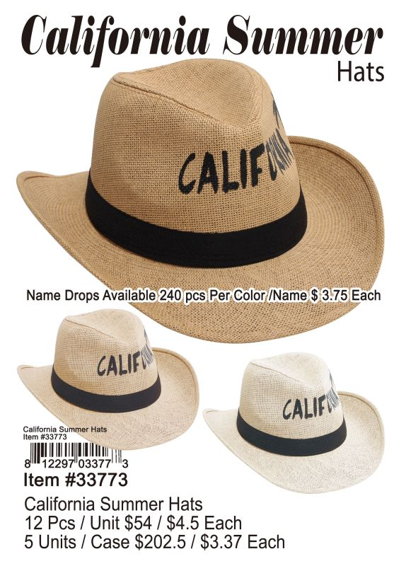 California Summer Hats Wholesale