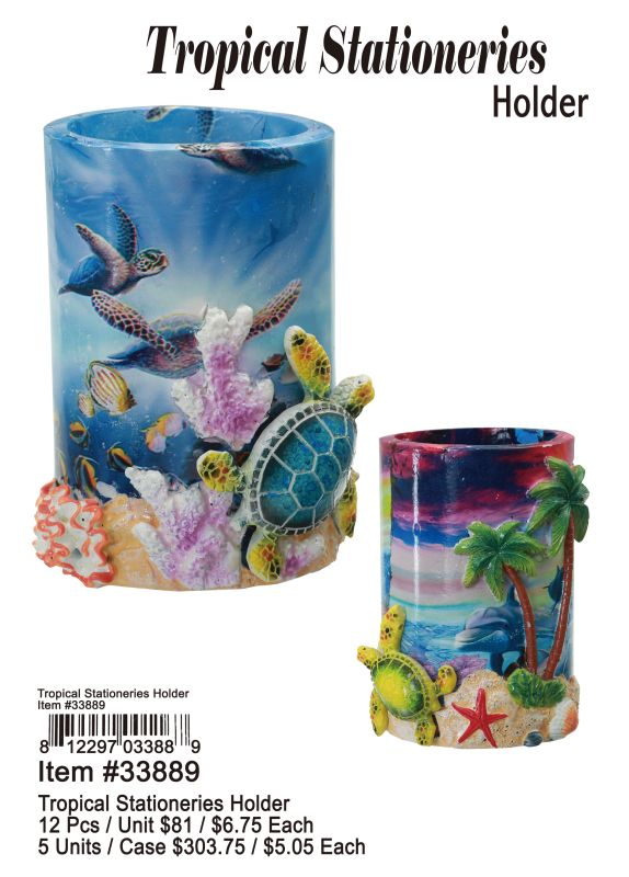 Tropical Stationeries Holder - 12 Pieces Unit