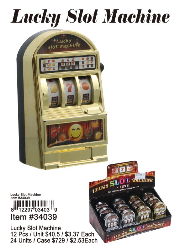Lucky Slot Machine - 12 Pieces Unit
