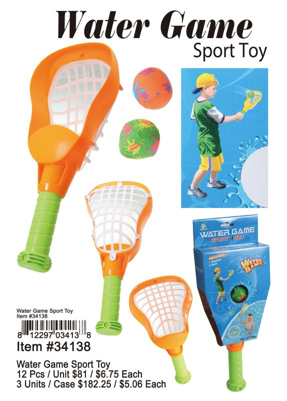 Water Game Sport Toy - 12 Pieces Unit
