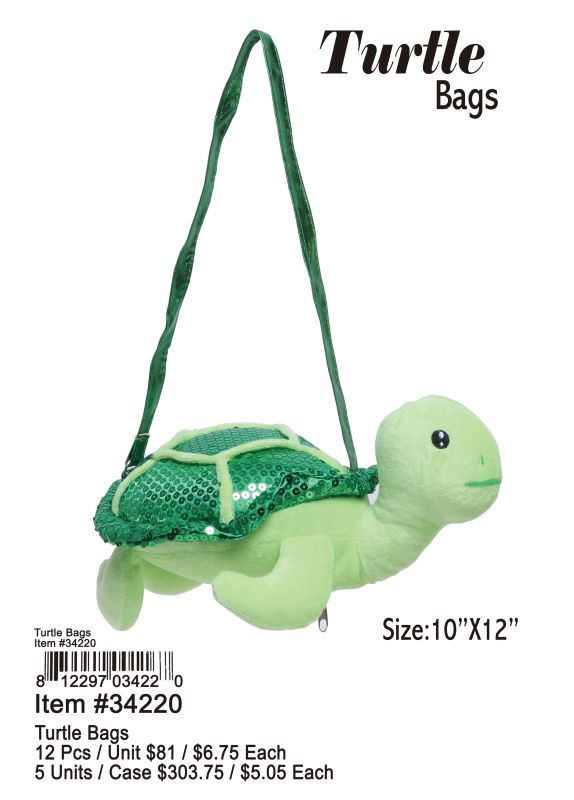 Turtle Bags - 12 Pieces Unit