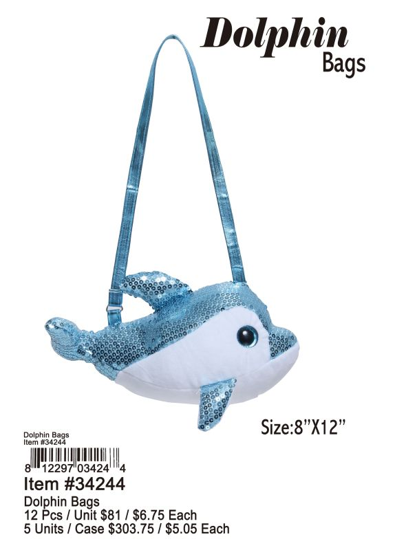 Dolphin Bags - 12 Pieces Unit