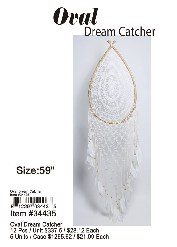 Oval Dream Catcher - 12 Pieces Unit
