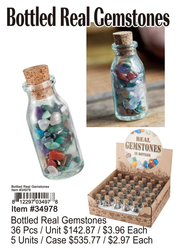 Bottled Real Gemstones - 36 Pieces Unit