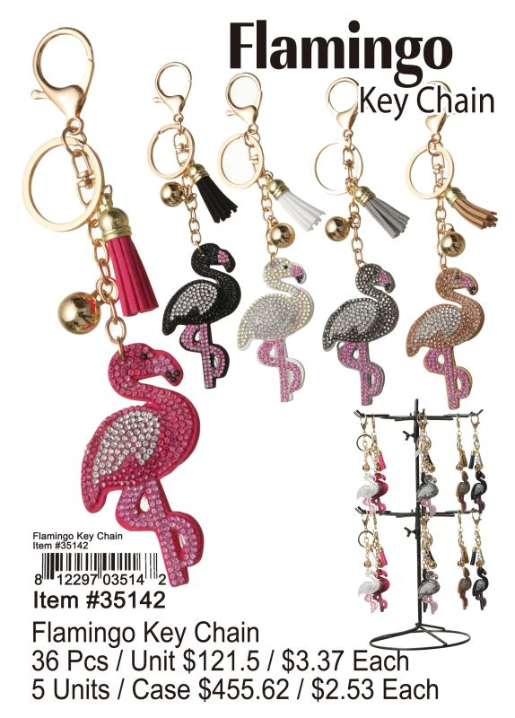 Flamingo Key Chain - 36 Pieces Unit