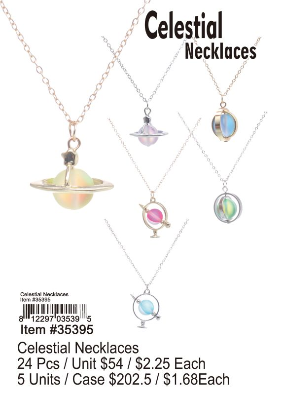 Celestial Necklaces - 24 Pieces Unit