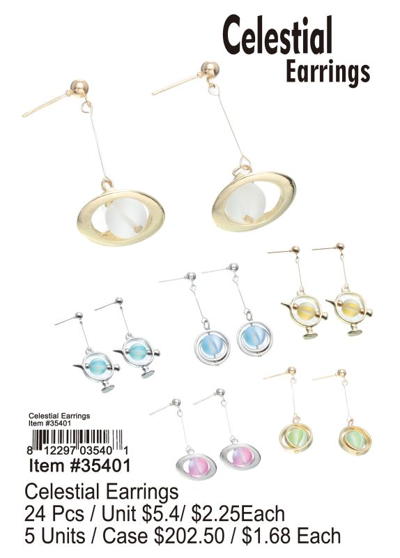 Celestial Earrings - 24 Pieces Unit